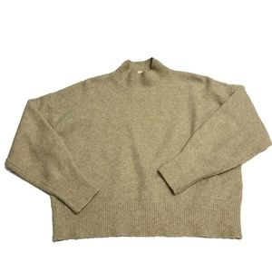 H&M Mock Turtleneck Fuzzy Knit Pullover Sweater S